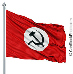 Waving Flag of USSR sign - Realistic 3d flag of USSR...