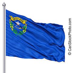 Waving Flag of USA state Nevada