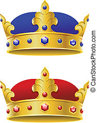 Royal crowns isolated on white background for heraldry...