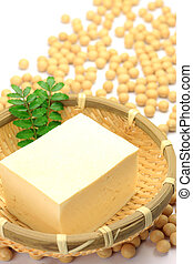 tofu and soybean - The tofu is a processed food of the...