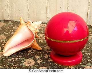Or Yehuda Pink Shell and Red ball 2010 - Beautiful Pink Sea...