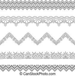 Abstract border, contour - Pattern, abstract border for...