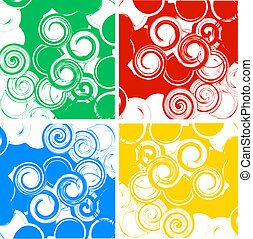 Set of swirly banners - Abstract vector swirly banner set