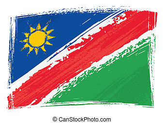 Grunge Namibia flag