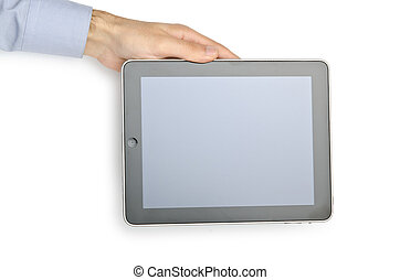 Tablet computer isolated on the white