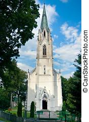 Neo-Gothic Church of St. Adalbert / Jablonowo Pomorskie /...