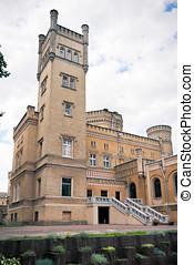 Neo-gothic castle tower - Narzymski Palace Jablonowo...