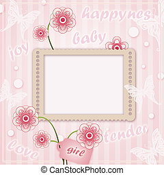 Decorative template frame for baby photo