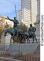 Square of Spain, Madrid, Spain - square of Spain and...
