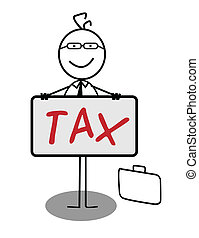 Businessman Happy Tax Banner
