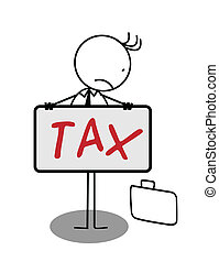 Businessman sad Tax Banner