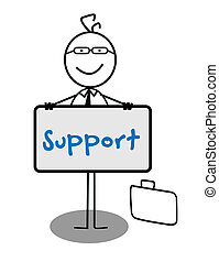 Businessman Support Banner
