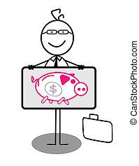 Businessman Piggy Bank Banner