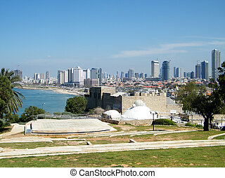 Jaffa Amphitheatre 2011 - Amphitheatre on the background of...