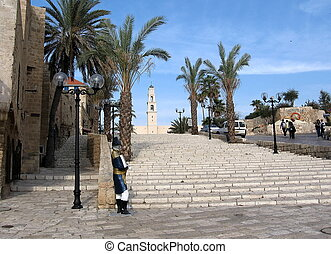 Jaffa Napoleon  - Center square in old city Jaffa,Israel.