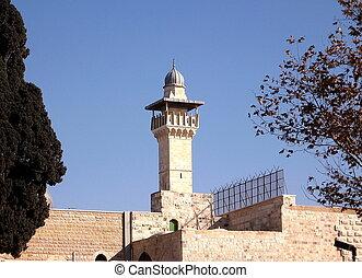 al-aqsa,  2008, jerusalén, mezquita, minarete