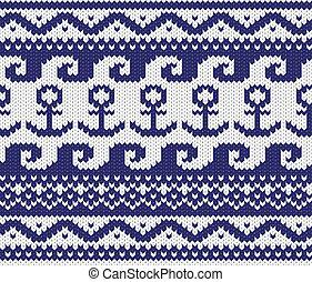 knitted marine pattern - Seamless knitted marine pattern ....