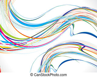 abstract colorful wave background with flow vector...