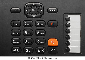phone keypad - black office phone keypad closeup
