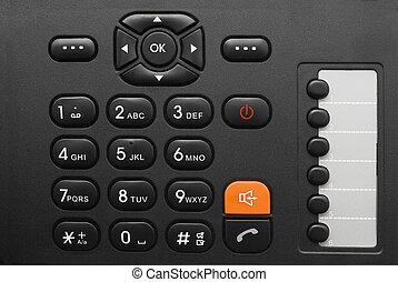 phone keypad - black office phone keypad closeup