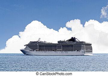 cruise ship sailing on the sea