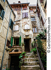 Old Traditional House in the City of Rovinj, Croatia