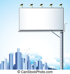 Bill Board in Cityscape