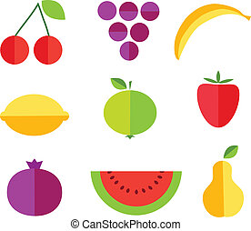 fruit forms with fruits template
