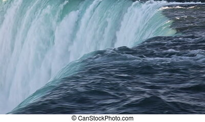 Niagara Waterfall closeup - Top of Canadian horseshoe...