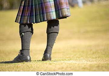 Dapper - man in kilt at highland games in Orlando Florida