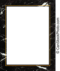 Black Marble Frame - Black marble frame with copy space....
