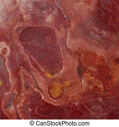 Red Marble - Red marble background with rich swirls of...