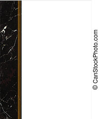 Black Marble Side Frame - Black marble side frame with copy...