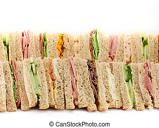 A Platter of Triangular Sandwiches - A selection of...