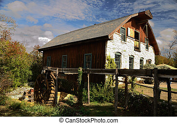 Gristmill - Water powered gristmill use to grind wheat into...