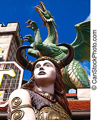 dragon - warior girl and the dragon