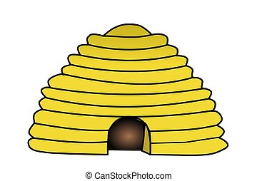 Bee Hive - Illustration of a bee hive.