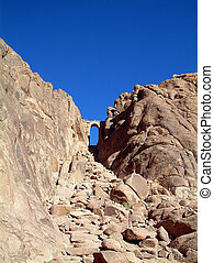 Rocky stairs to Mount Sinai, Egypt - One of the access roads...