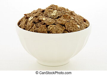 wheat bran flakes cereal breakfast with rolled oats -...