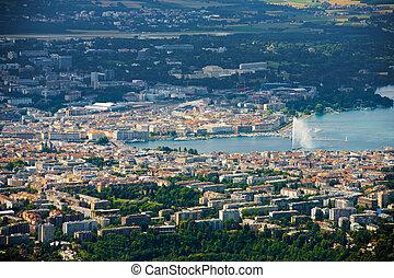 Aerial View Lake Geneva