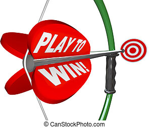 Play to Win Determination Resolve Bow Arrow Target - The...