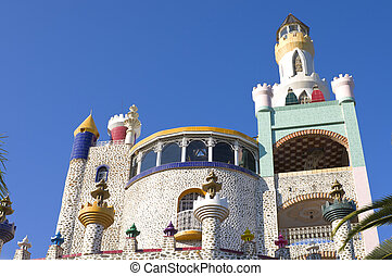 Foco Tonal Castle - Foco Tonal castle tower with spire and...