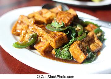 Plate of tofu