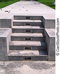 Stairs to heaven - Stairs in garden with light bulb in steps