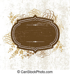 Vector Distressed Frame and Ornaments