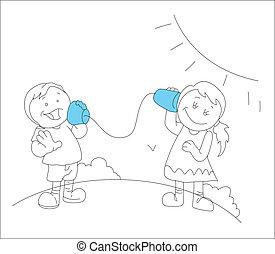 Enjoying Kids Drawing Art
