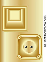 Light switch, electrical outlet. - Switches and sockets in...
