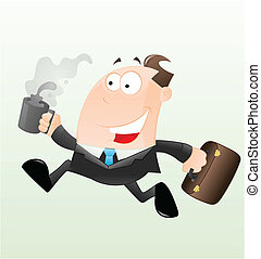 Running Businessman Vector - Conceptual Art Design of...