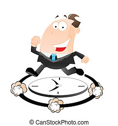 Businessman Late for Work - Creative Design Art of...