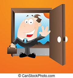Happy Salesman - Creative Conceptual Design Art of Happy...